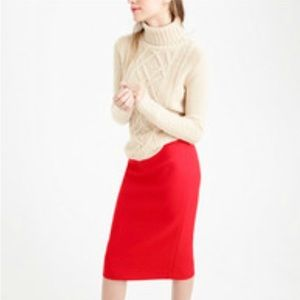 J Crew No.2 pencil skirt in red